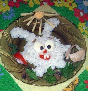 Интересные идеи оформления блюд из риса