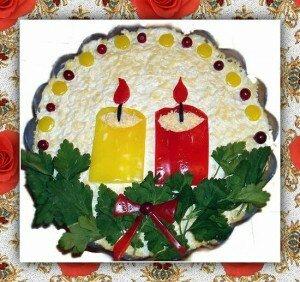 Закуска Новогодние Свечи на вашем столе