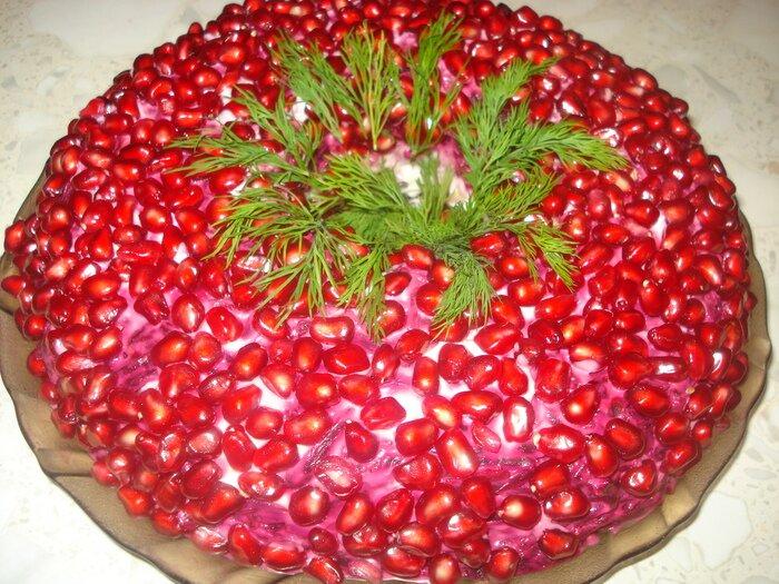 Гранатовый браслет салат фото