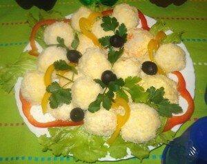 """Закуски на Новый год. Закуска """"Крабовые шарики с оливками"""""""